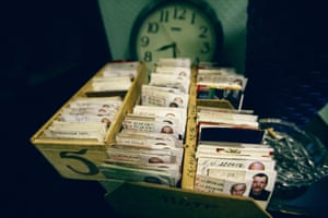Identity cards for each inmate are kept in special boxes