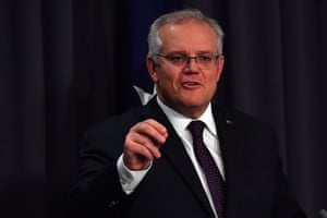 Prime Minister Scott Morrison speaks during a press conference in the Blue Room at Parliament House on June 03, 2021 in Canberra, Australia.