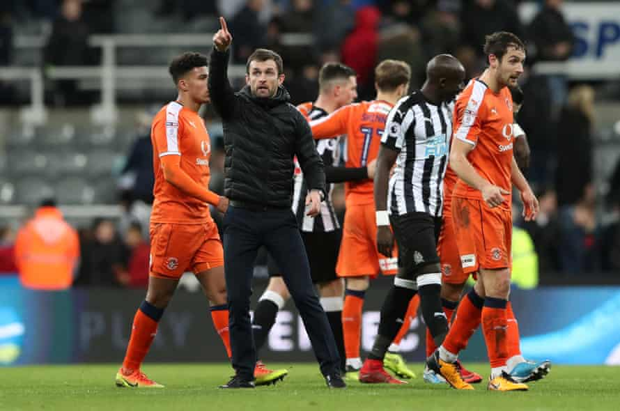 Luton Town manager Nathan Jones after the match