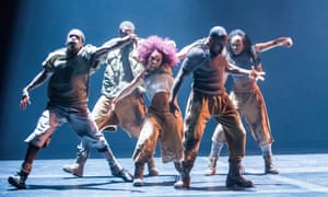 'A high-velocity whirl of popping, breaking and krump': Gray, from Boy Blue's Blak Whyte Gray at the Barbican.