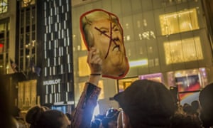 Anti-Trump protest in New York