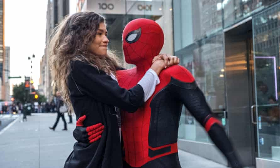 Arachnophilia … Zendaya and Tom Holland (or is it?) in 2019's Spider-Man: Far From Home.