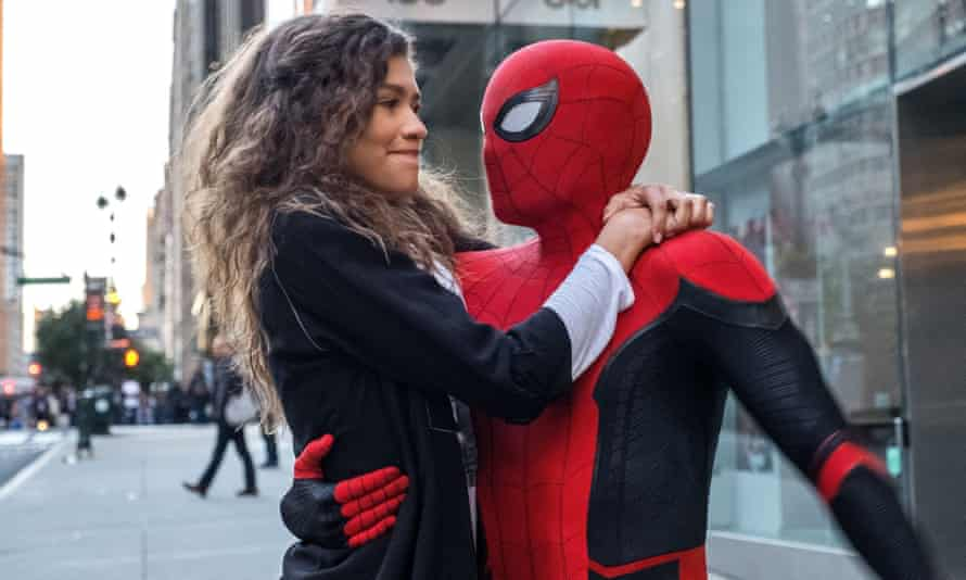 Where next? … Zendaya and Tom Holland in 2019's Spider-Man: Far from Home.