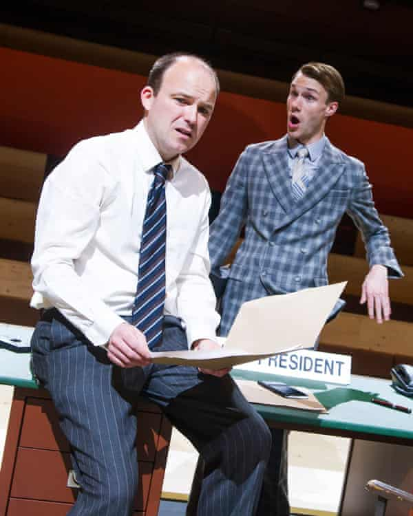 Rory Kinnear and Hugh Skinner (Kyle) in The Trial by Franz Kafka.