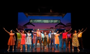 The cast of Motown the Musical at the Shaftesbury theatre in 2016.