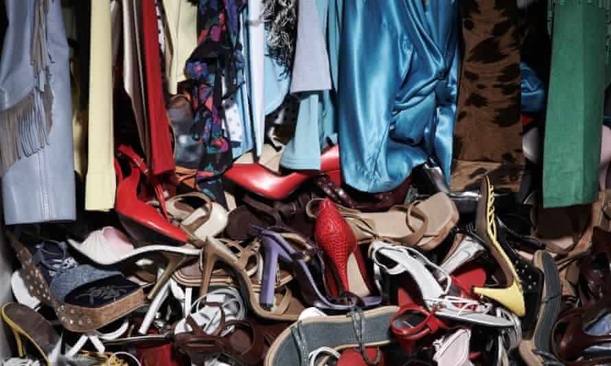 Interior of Messy Closet