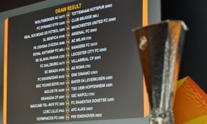 The Europa League last-32 draw has thrown up some exciting looking ties for Manchester United and Arsenal in particular.