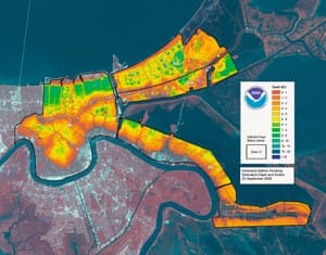 Hurricane Katrina Flooding Estimated Depths and Extent, 2005