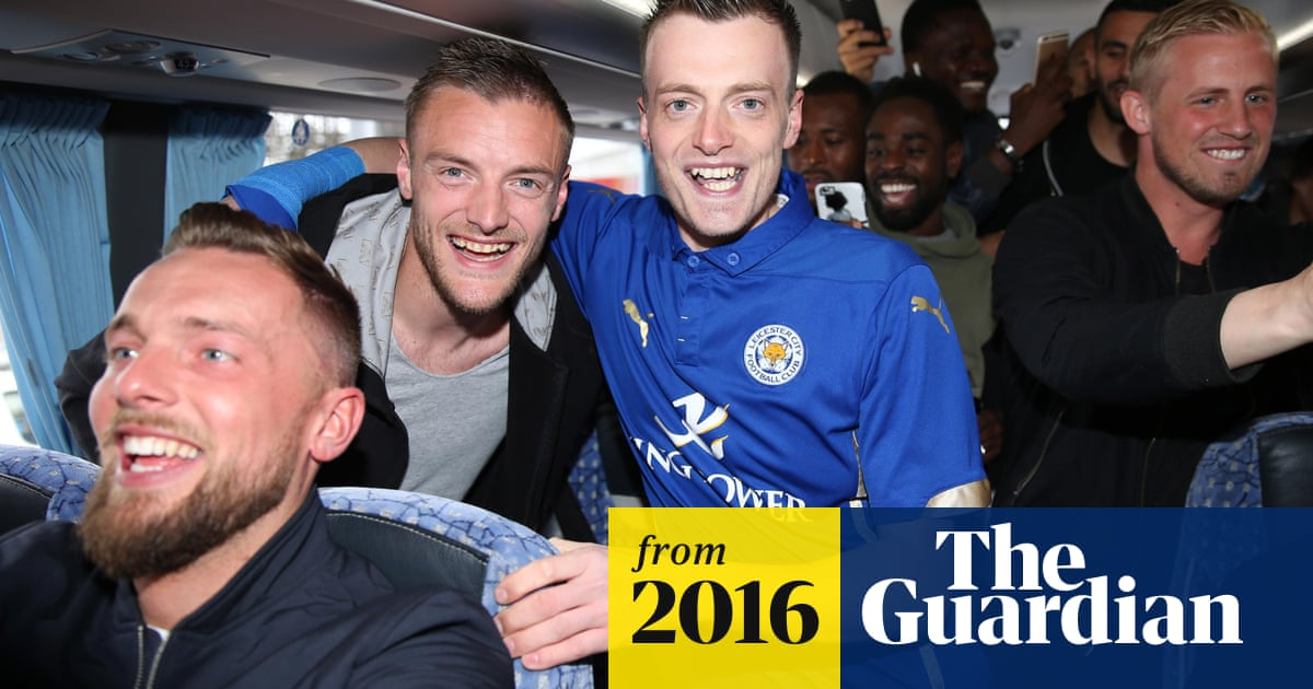 Jamie Vardy lookalike picked up by Leicester City team bus   Football   The  Guardian