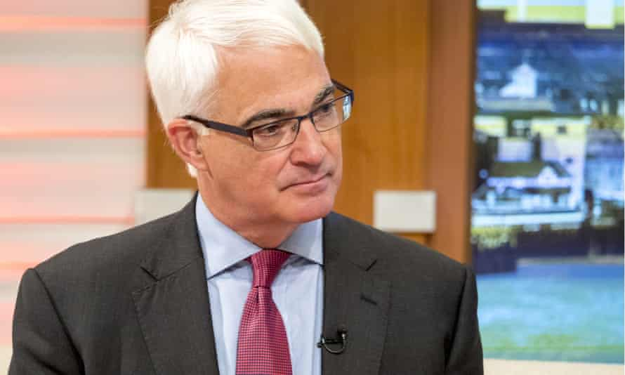The former chancellor Alistair Darling