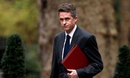 Former defence secretary Gavin Williamson at Downing Street in London.