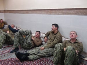 US sailors under detention in the Farsi Island by Iran's Revolutionary Guards