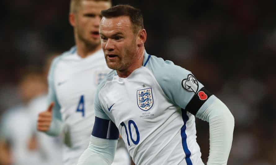 England's Wayne Rooney wearing a poppy armband to commemorate Armistice Day
