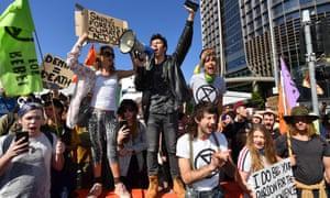 Protesters in Brisbane