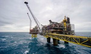 a north sea gas rig