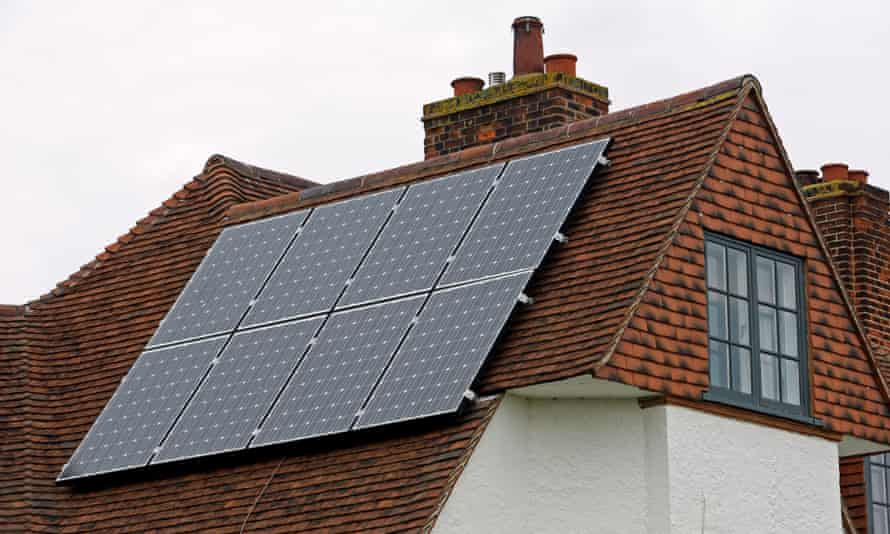 Solar panels fitted to residential property