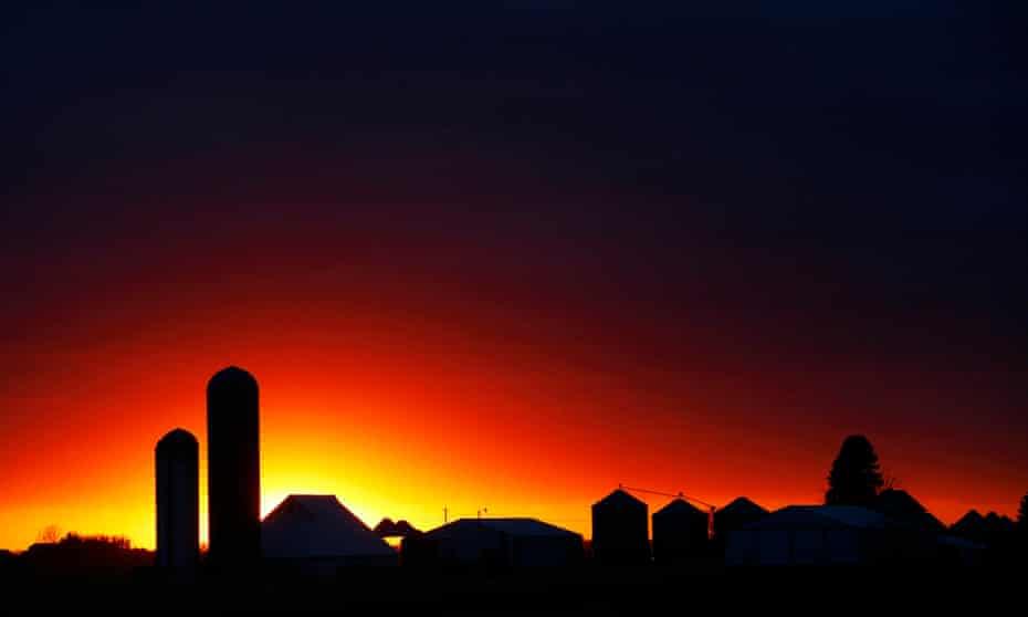 corn silo Iowa