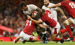 Courtney Lawes fails to get through on a frustrating day.