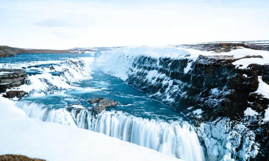 Gulfoss, a waterfall in Iceland.