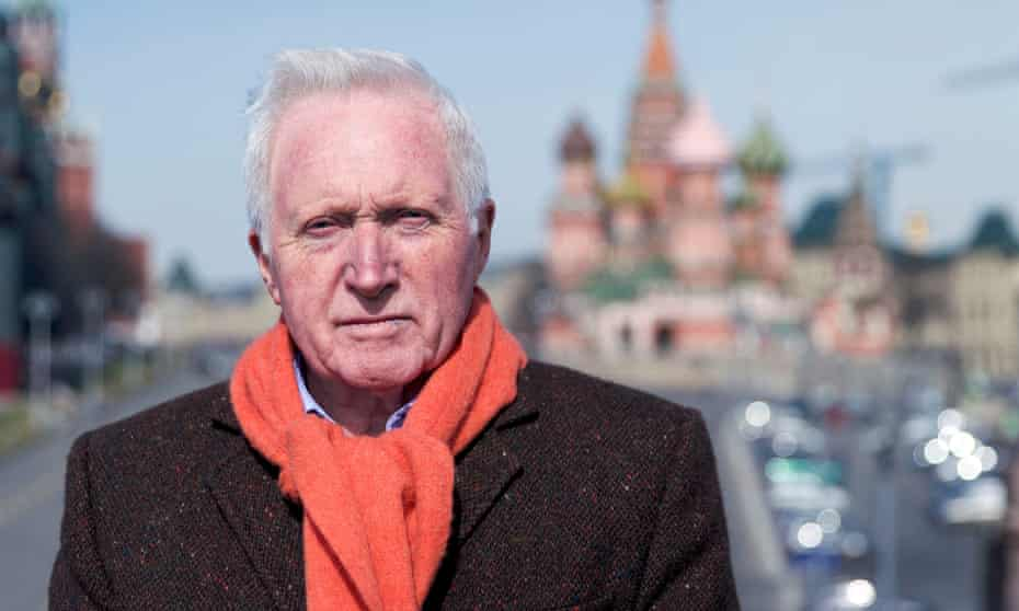 Democratically challenged … David Dimbleby in Moscow.