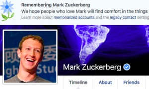 CEO Mark Zuckerberg's page was among those that suffered a glitch announcing the page owner was dead.