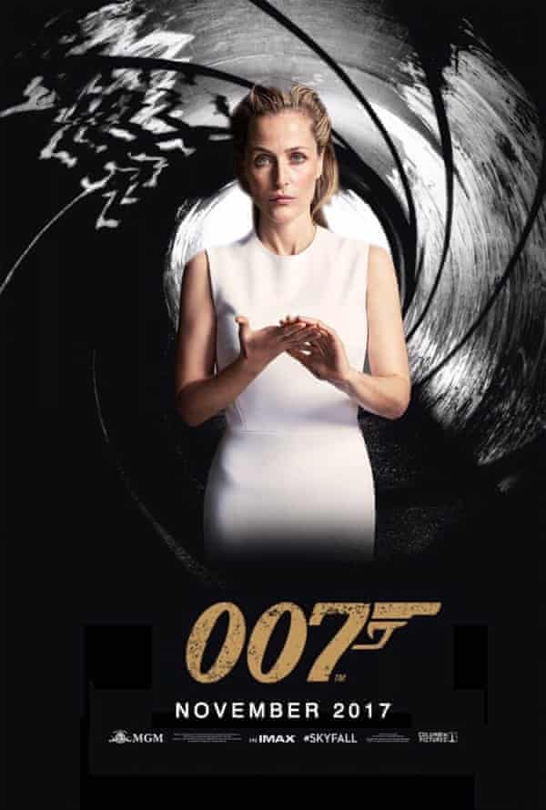 Gillian Anderson in the mocked-up 007 poster