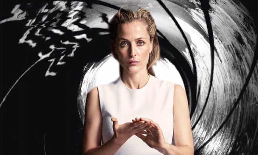 Gillian Anderson features as Jane Bond in a mocked-up 007 poster