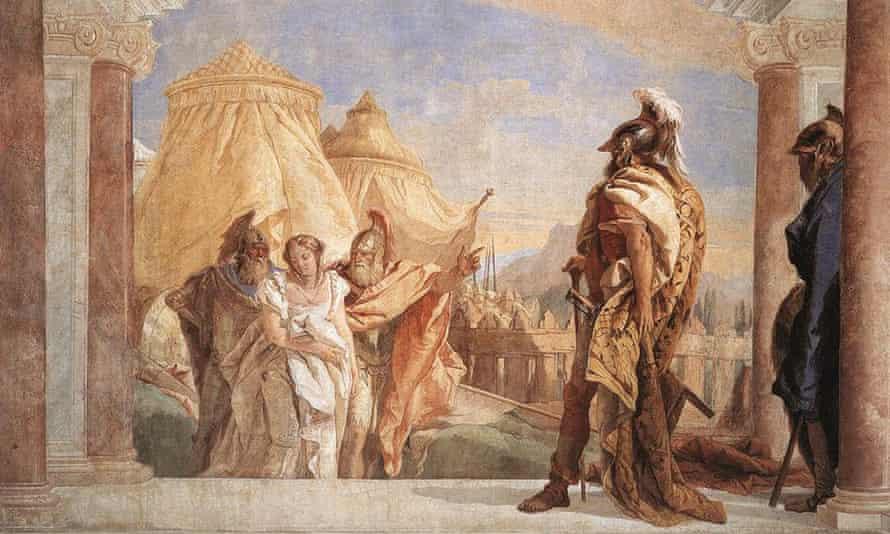 Eurybates and Talthybios Lead Briseis to Agamemmon by Giovanni Battista Tiepolo.