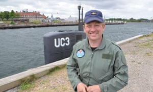 Peter Madsen and his homemade submarine, Nautilus, three months before the death of Kim Wall in August last year.