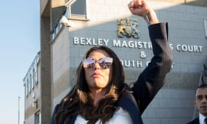 Katie Price outside Bexley magistrates court on Monday