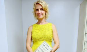 Elizabeth Gilbert with her book The Signature of all Things.