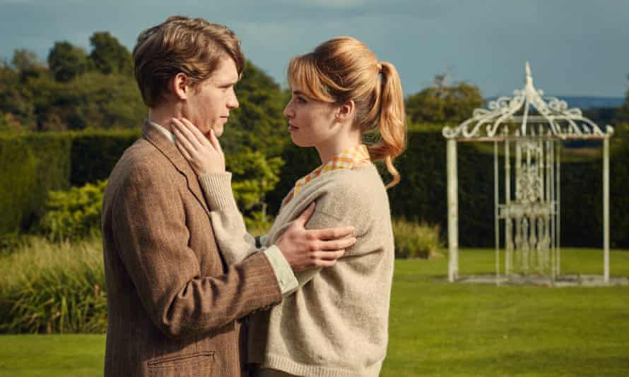 Billy Howle and Freya Mavor and the young Tony and Veronica in The Sense of an Ending.