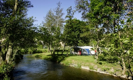 River bend at Camping Val d'Or