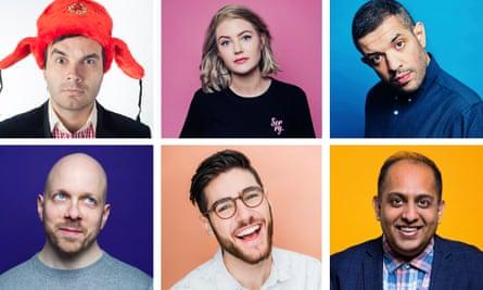 Comedy Without Borders … top row: Igor Meerson, Brodi Snook, Francesco de Carlo; bottom row: Luca Capani, Sam Morrison, Anuvab Pal.