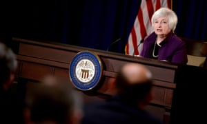 epa04805341 Chair of the Board of Governors of the Federal Reserve System Janet Yellen responds to a question during a press conference at the Federal Reserve in Washington, DC, USA, 17 June 2015. The press conference follows the June 16-17, 2015 Federal Open Market Committee meeting. EPA/SHAWN THEW