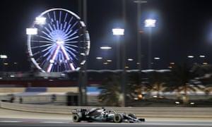 Lewis Hamilton wins the Bahrain Grand Prix.