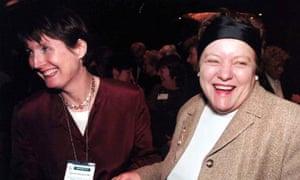 Harriet Harmen and Mo Mowlan in Belfast, 1999.
