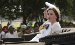 'Very much on home ground': Hugh Bonneville and Gillian Anderson as the Mountbattens in Viceroy's House.