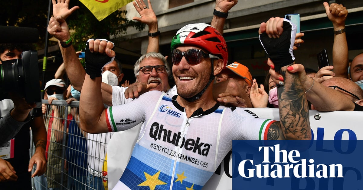 Emotional celebrations after Giacomo Nizzolo ends long wait for Giro stage win