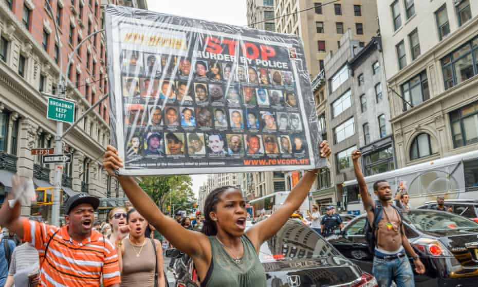 Protests in response to recent police shootings, New York, USA - 07 Jul 2016