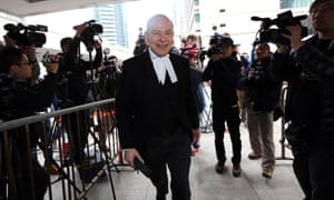 David Perry QC appears at the Hong Kong high court.