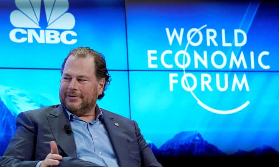 Marc Benioff, the CEO of Salesforce.