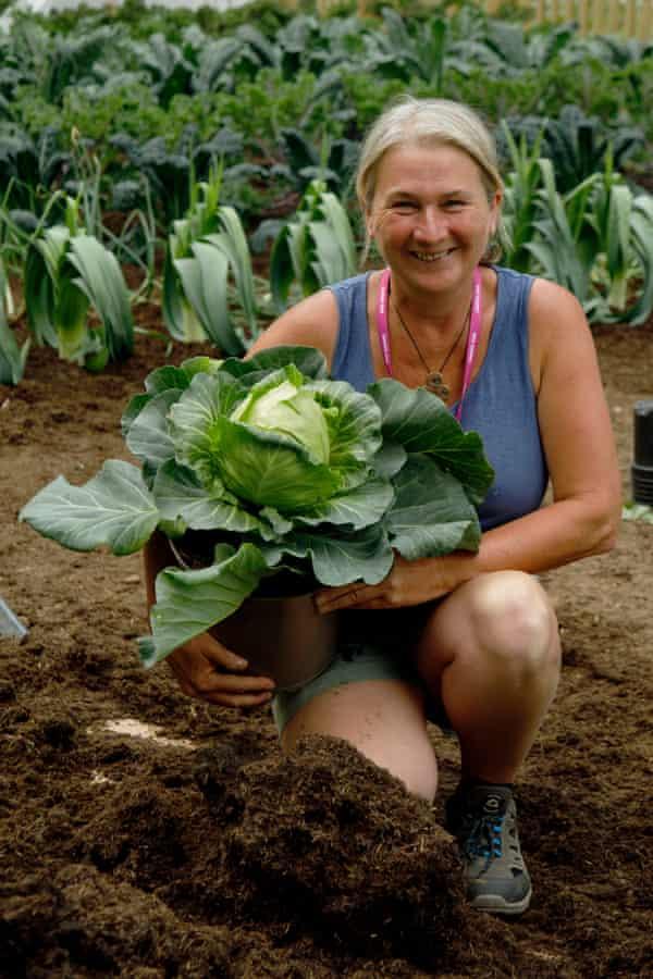 Stephanie Hafferty holds a cabbage