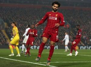 Frustration for Mohamed Salah.