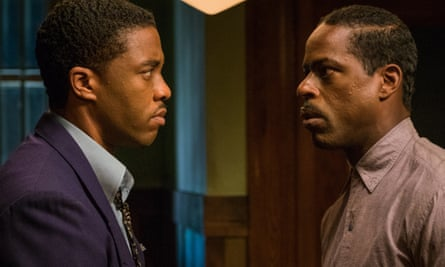 Chadwick Boseman and Sterling K Brown in Marshall.