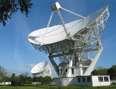 The Mark II and Lovell Telescopes.