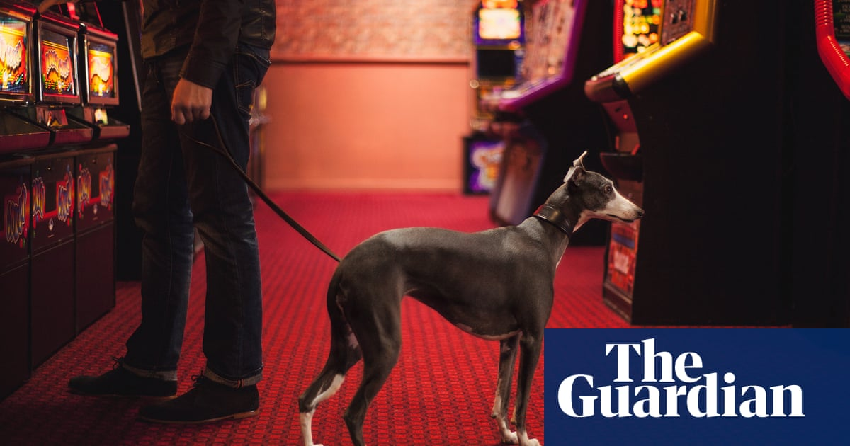 Garrod Kirkwood's best photograph: one man and his whippet in a seaside arcade