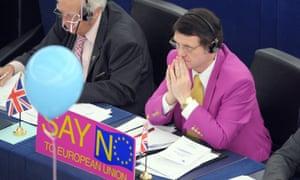 Gerard Batten in the European parliament.