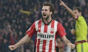 PSV Eindhoven midfielder Davy Propper