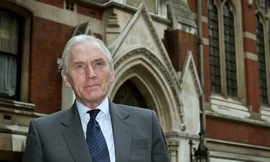 Brian Hutton in 2003 outside the Royal courts of justice, London, at the start of his inquiry into the David Kelly affair.